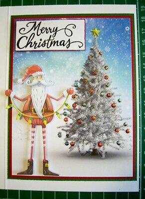 Christmas is coming   JOYOUS SANTA DIE TLD0479 TATTERED LACE Stephanie Weightman