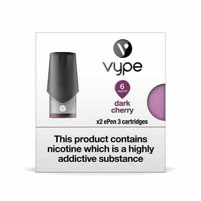 VYPE EPEN 3  Dark Cherry 6mg-18mg ePen3 Caps Refill Cartridge|up to 10 Packs