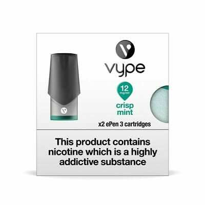 VYPE EPEN 3  Crisp Mint 0mg-18mg ePen3 Caps Refill Cartridge|up to 10 Packs