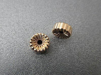 14K Gold Filled Wheel Corrugated Bead Spacer 9mm 2pcs