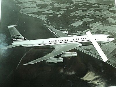 Continental Airlines, Boeing 707 320-C,  8 X 10 Print,  FREE SHIPPING !!