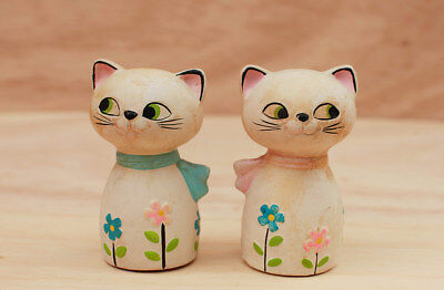 Holt Howard Cozy Cat or Cozy Kittens Salt & Pepper RARE Version with Flowers