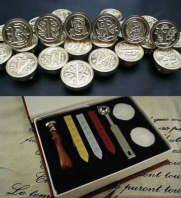 Sealing wax tools kit seal pmc clay Stamp Alphabet Wedding Invitation Letters