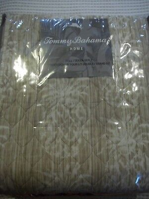 Tommy bahama vintage map beige king quilt cover shams 3 pc set tommy bahama pineapple stripe reversible quilt new sz fullqueen gumiabroncs Image collections