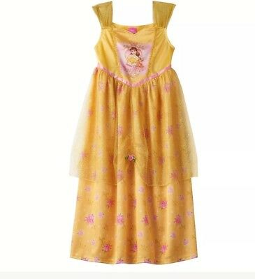 Disney Princess Belle Girls Nightgown Beauty and the Beast Size 6