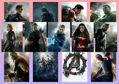 Avengers: Age of Ultron, Captain America, Hawkeye Hulk Textless A5 A4 A3 Posters
