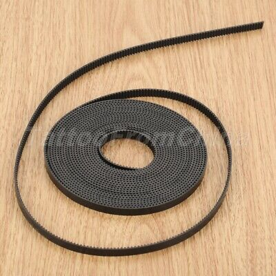Useful For 3D Printer GT2 Pulley Great PU Steel Wire 5M Black Open Timing Belt
