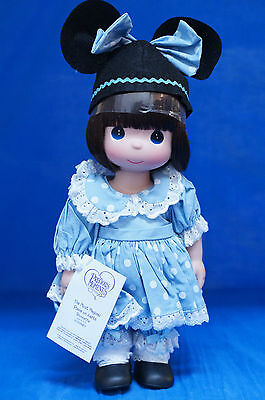 """Blue Mouseketeer 12"""" Vinyl Doll Disney Parks Precious Moments Signed 5151"""