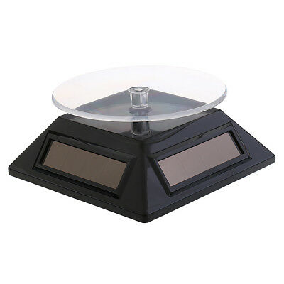 Solar/Battery Powered Rotating Jewelery Display Stand Holder Turntable
