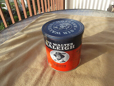 SIR WALTER RALEIGH 7 oz sealed can of vintage pipe tobacco tin