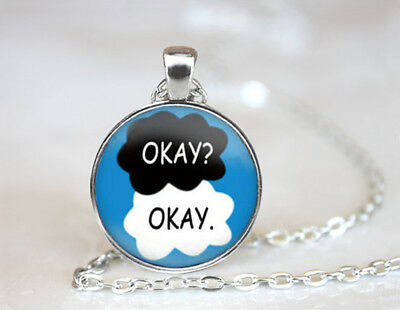 The Fault in Our Stars Okay Dome Tibetan silver Glass Chain Pendant Necklace