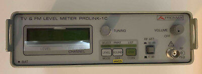 NEW Promax PROLINK-1C TV/CATV Signal Level Meter with Power Supply & Case