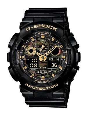 Casio G-Shock GA100CF-1A9CR Classic Series Men's Black Camo Resin Ana-Digi Watch