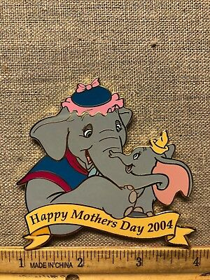 Disney Auctions Pin Dumbo and Mrs Jumbo Happy Mothers Day 2004 LE100 RARE