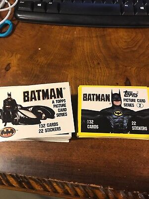 1989 Topps Batman Sets 1 & 2 Complete No Stickers