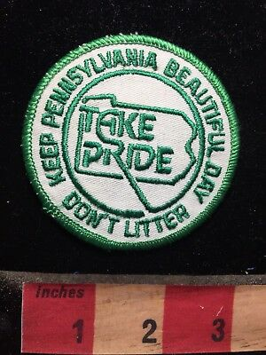 Pennsylvania Patch Take Pride Don't Litter Keep Pennsylvania Beautiful 79G