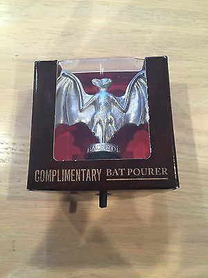 Bacardi Bat Pourer Liquor Bottle Dispenser Cap Halloween New In Box
