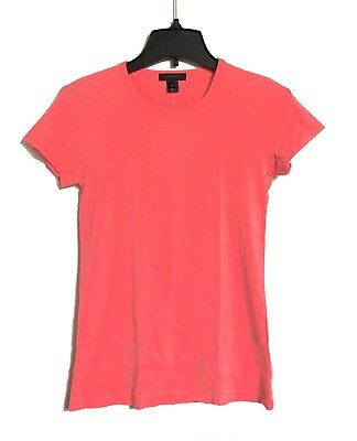 J Crew - Womens S - NWT - Neon Coral Vintage Cotton Short Sleeve Crew Tee