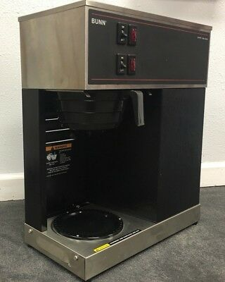 Bunn VPR Blk 12 Cup Pourover Coffee Brewer Maker Machine O-Matic 2 Warmers