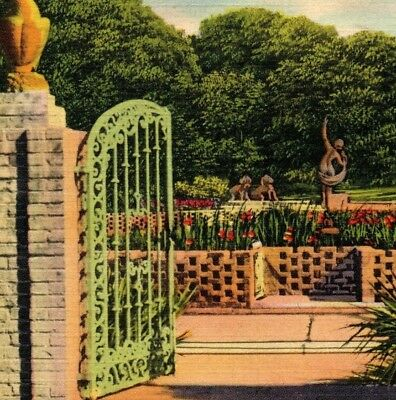 Diana Pool Gateway Brookgreen Garden historic place landmark SC Vintage Postcard