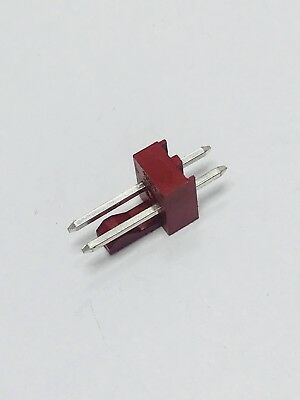 100pcs - 22-23-2021, Connector, HDR, 2POS,Male, ST, Solder, Thru-Hole