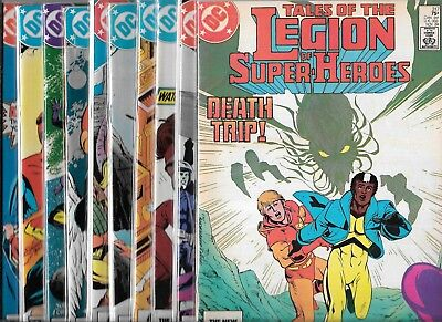 Tales Of The Legion Of Super-Heroes Lot Of 9 #317 318 319-325 (Vf/nm) + Free 326