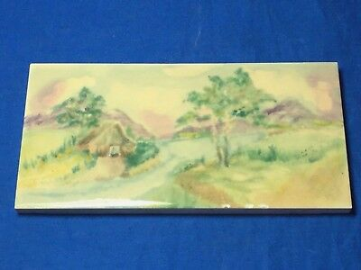 Gladding McBean California Pottery Hermosa hand painted Landscape Tile