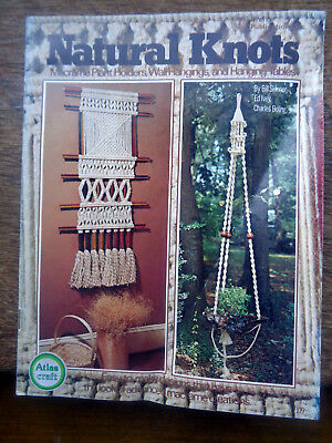 Vintage Natural Knots Macrame Booklet Plant Holders,Wall Hangings,Hanging Tables
