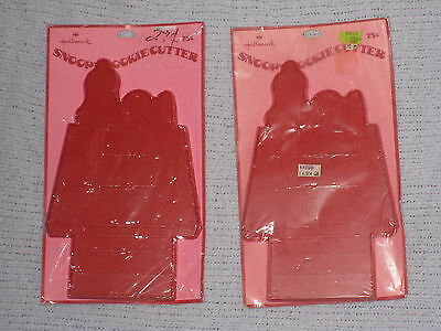 Vintage Pair of Hallmark Snoopy Cookie Cutters Brand New Still Sealed in Package