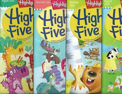 Lot of 4 Highlight High Five Magazine for Children Ages 3 to 5