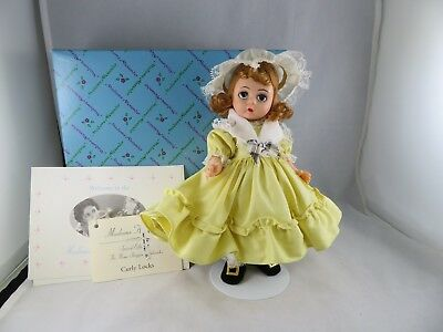 Vintage 1980's Era Madame Alexander Curly Locks Doll With Stand And Box