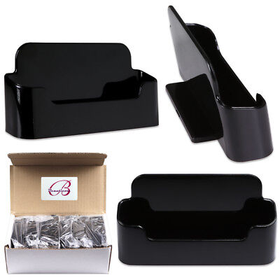 12pcs Black Acrylic Business Card Holder Display Stand Desktop Countertop