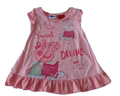 Girls size 1 PEPPA PIG Pink Summer nightie sleepwear  Sweet Dreams NEW
