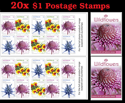 20 x $1 Postage Stamp ($20 Face Value) BRAND NEW Australia Post Stamps Letter