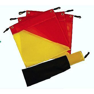 Colourcorp Mesh Warning Flag Red / Yellow Set 4 with Bungy Strap - CIXT114/K
