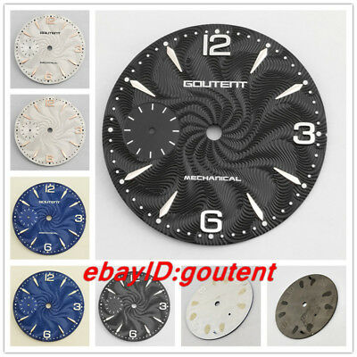 36.8mm Goutent/Sterile Watch Dial Face Fit ETA 6497,Seagull ST36 Series Movement