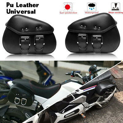 Durable PU leather side saddle bags For Harley Davidson Softail Fat Boy FLSTF