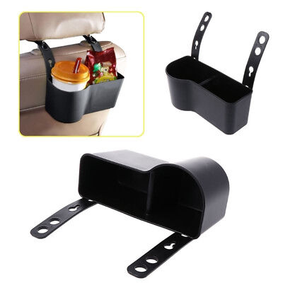 Universal Car Headrest Seat Back Organizer Drink Cup Holder Storage Box Black UK
