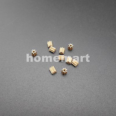 10PCS Brass Gear 0.3 Modulus 7 Teeth Aperture 1mm 1.05MM) 0.3M Hollow glass Gear