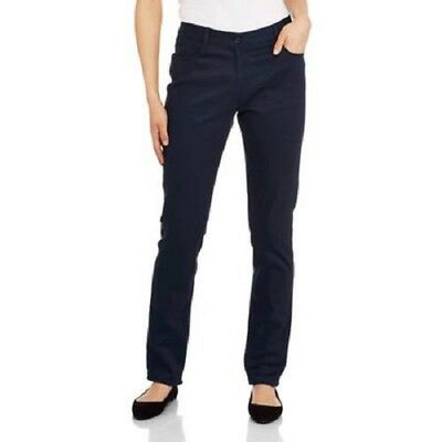 George Junior Girls Navy Blue School Uniform Flat Front Skinny Pants Size 9