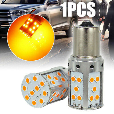 Error Free Amber Yellow BA15S 1156 LED Bulb 35-SMD Turn Signal Lights Canbus