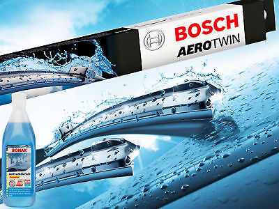 Bosch Aerotwin A555S Audi A1 Seat Leon VW Polo UP + SONAX Anti-Frost Reiniger
