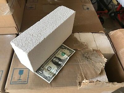 Insulating Fire Brick 9x4.5x 2.5 IFB Fire Brick LOT OF 6 BRICKS with FREE SHIP!