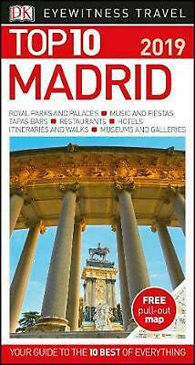 Top 10 Madrid: 2019 by DK Travel Paperback Book Free Shipping!