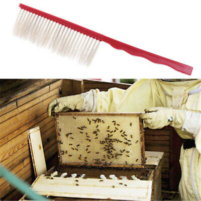 1PC Plastic Sweep Bristle Beekeeping Bee Brush Beekeeper Beehive Tools  I