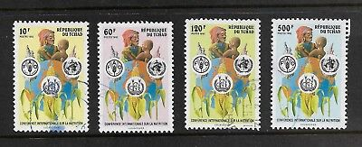 CHAD 1992 International Nutrition Conference Rome, set of 4, used
