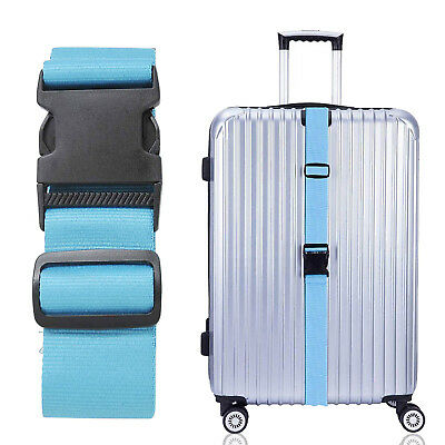 """Nylon Cross 6 feet Long Luggage Strap Belt For Suitcase 16""""~32"""" with"""