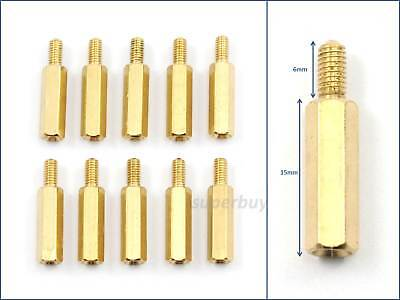 1/10PC 15mm M3 Male Female Brass Hex Standoff Spacer Screw Separator Stand Off