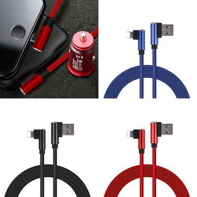 Pro 90 Degree Nylon Charger USB Fast Charging Cable Cord For iPhone 6 7 X 8p