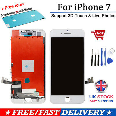 For iPhone 7 LCD Display Screen Digitizer Assembly Replacement - 3D Touch -White